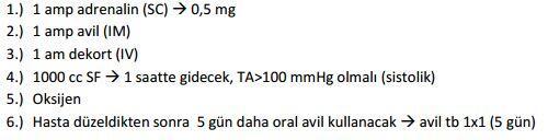 anaflaksi recetesi