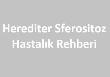 herediter sferositoz hastalık rehberi